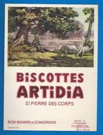 37 - SAINT-PIERRE-DES-CORPS - BUVARD - BISCOTTES ARTIDIA - LE GARDIEN DE CHEVRES - Biscottes