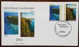 Nouvelle-Calédonie - FDC 2001 - YT N°857, 858 - Paysages Régionaux / Lifou - FDC