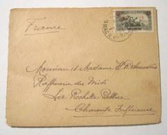 Enveloppe Oblitérée Surchargée SYRIE 1930 - Tampon Cire PD - Timbres