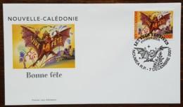 Nouvelle-Calédonie - FDC 2001 - YT N°862 - Lettres Festives / Vive La Fête - FDC