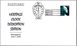 HERITAGE CLOCK DEDICATION. RELOJ. Barnegat NJ 2003 - Relojería
