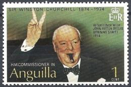 Anguilla, 1974 Churchill Making Victory Sign, 1c Multi # S.G. 181 - Michel 192 - Scott 193  MNH - Anguilla (1968-...)