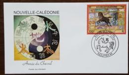 Nouvelle-Calédonie - FDC 2002 - YT N°863 - Année Du Cheval - FDC