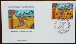 Nouvelle-Calédonie - FDC 2002 - YT N°865 - Le Cricket: Partage Culturel / Sport - FDC