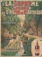 """""""La Suprême"""" Liqueur Se Saint Pierre De Chartreuse, Bonal & Fils Saint Laurent Du Pont. Affichiste Coulange Lautrec - Publicités"""