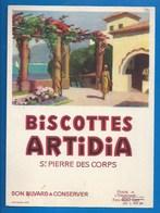 37 - SAINT-PIERRE-DES-CORPS - BUVARD - BISCOTTES ARTIDIA - PAYSAGE MÉDITERRANÉEN - Biscottes