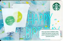 IRELAND - Happy Birthday, Starbucks Card, CN : 6141, Unused - Cartes Cadeaux