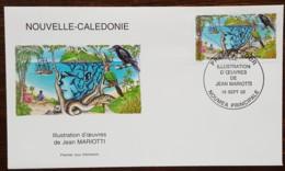 Nouvelle-Calédonie - FDC 2002 - YT N°878 - Illustration D'oeuvres De Jean Mariotti - FDC