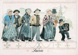 CARTE FOLKLORE  DE SAVOIE - Costumes