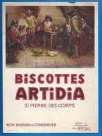 37 - SAINT-PIERRE-DES-CORPS - BUVARD - BISCOTTES ARTIDIA - COMBAT DE COQS - Biscottes