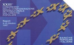 SCHEDA TELEFONICA  XXIII CONGRESSO CREDITO POPOLARE   SCADENZA 31/12/1999 USATA - Italy