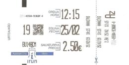 Ticket De Parking - Irun 2019-02-25 - Titres De Transport