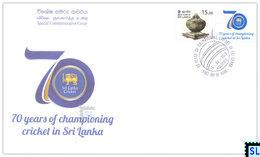 Sri Lanka Stamps 2018, Championing Cricket, Special Commemorative Cover - Sri Lanka (Ceylon) (1948-...)