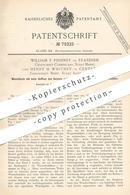 Original Patent - William F. Phinney , Standish , Cumberland , Mine   Henry H. Whitney , Centreville  Boisé   Waschtisch - Historische Dokumente