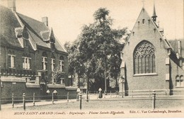 32006. Postal MONT SAINT AMAND (Gand) (Flandre Or) Belgica. Chapelle Et Religieuses - Gent
