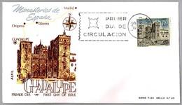 MONASTERIO DE GUADALUPE, Caceres, Extremadura. SPD/FDC Madrid 1966 - Abbayes & Monastères