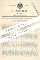 Original Patent - John Bleecker Tibbits , Hoosack , New York USA 1889 , Bereitung Von Glühfäden   Glühlampe   Glühlicht - Historische Dokumente
