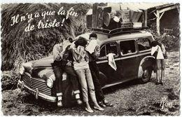 """Autos Voitures Automobiles Cars - PEUGEOT 203 Break - Vacances - """" Il N'y A Que La Fin De Triste ! """" - Passenger Cars"""