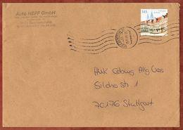 Brief, EF Eichstaett Sk, Bad Friedrichshall Ueber Briefzentrum 74 Nach Stuttgart 2009 (70927) - BRD