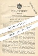 Original Patent - John Boyd Lott , Kittaning , Pennsylvania USA , 1889 , Elastisches Eisernes Rad Für Fuhrwerk , Kutsche - Historische Dokumente