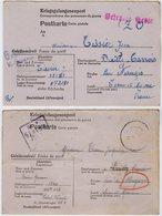 TB 2466 - MILITARIA - Carte Pour Prisonnier De Guerre Soldat A.TISSIER Stalag XII F Pour BAILLY - CARROIS Par NANGIS - Marcofilie (Brieven)