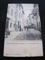 Ancienne Carte Postale Cpa Rare Briga Marittima Cuneo Via Vittorio Emmanuele II Circulée - Italie
