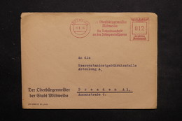 ALLEMAGNE - Affranchissement Mécanique De Mittweida Pour Dresden En 1944 - L 25445 - Allemagne