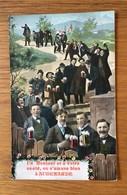 Oudenaarde  Un Bonjour Et à Votre Santé , On S'amuse Bien à Audenarde  (Bierdrinkers - Bier - Bière) - Oudenaarde