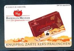 GERMANY Telefonkarte O 038 95 Haeberlein Metzger - Keks Pralinen - Auflage  3 000 Stück - Siehe Scan -15579 - Deutschland