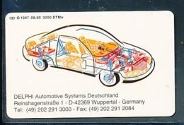 GERMANY Telefonkarte O 1347 95 Delphi Automotive  - Auflage  3 000 Stück - Siehe Scan -15584 - Deutschland