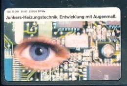 GERMANY Telefonkarte O 001 97  Junkers- Heizungstechnik- Auflage  25 000 Stück - Siehe Scan -15594 - Deutschland