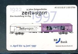 GERMANY Telefonkarte O 613 97  BB-Bank Eisenbahn - Auflage  2 000 Stück - Siehe Scan -15597 - Deutschland