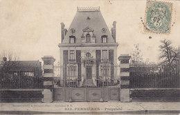 4 CPA FERRIERES Propriété (de Mr Navarre ) Un Baiser Bonjour Circulées Timbrées - France