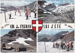 38. Gf. COL DE L'ISERAN. Ski D'été. 4 Vues - France