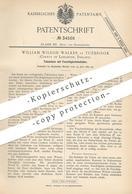 Original Patent - William Wilson Walker , Tuebrook , Lancaster , England , 1885 , Tabakdose   Tabak - Dose   Zigarren - Historische Dokumente
