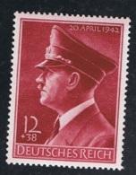 1942 13. April Geb. Hitler Mi DR 813 Sn DE B203 Yt DR 737 Sg DR 803 AFA DR 808 Postfrisch Xx - Germany