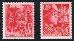 1945 21. Apr. SA SS   Mi DR 909 - 10 Sn DR B292  Yt DR 825 -26 Sg DR 897 - 98 Mit Gummierung Und Falz - Deutschland