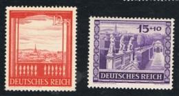 1941 16. Sept Wiener Messe Mi 804 - 05 Sn DE B198 - 99 Yt 728 - 29 Sg 790 - 91 AFA DR 795 - 96 Postfrisch Xx - Deutschland