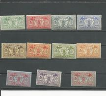 NOUVELLES HEBRIDES Scott F22-F32 Yvert 38-48 (11) *  Cote 150,00 $ 1911-12 Sans Filigrane - Légende Française