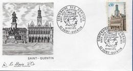 Saint-Quentin (02) - 6 Enveloppes Avec Timbre à Date évènementiel - Marcofilie (Brieven)