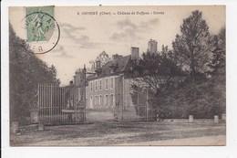 CPA 18 OSMERY Chateau De Deffens Entrée - France
