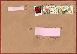 Brief, MiF Rosengruss Sk U.a., Innerhalb Stuttgart Ueber Briefzentrum 70, 2009? (70931) - BRD