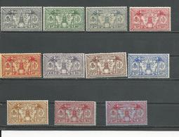 NOUVELLES HEBRIDES Scott F44-F54 Yvert 80-90 (11) *  Cote 28,00 $ 1925 - Légende Française