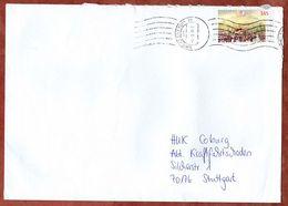 Brief, EF Hambacher Fest Sk, Freiberg Ueber Briefzentrum 70 Nach Stuttgart 2009 (70933) - BRD