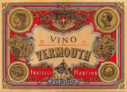 """07733 """"VINO VERMOUTH FRATELLI MARTINO - TORINO"""" ETICH. ORIG. - Etichette"""