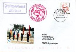 "(BWFP2) Sonder-Umschlag NATO BW SFOR Bosnia 2001 Feldpostamt Mostar"" 20.10.01 FELDPOST 731 - BRD"
