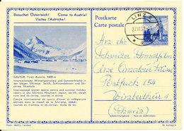 Austria Postal Stationery Postcard Linz 27-8-1962 (Galtür Tirol) - Stamped Stationery