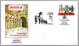 12 MESES - 12 SELLOS - HUESCA - Monasterio De San Juan De La Peña. SPD/FDC Huesca, Aragon, 2019 - Abbayes & Monastères