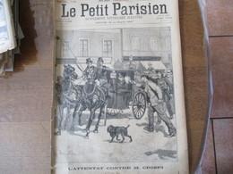 LE PETIT PARISIEN DU 1er JUILLET 1894 L'ATTENTAT CONTRE M. CRISPI,LE PRESIDENT DE LA REPUBLIQUE A LYON EXPOSITION,L'EXPL - Journaux - Quotidiens