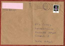 Brief, EF Schwertlilie, Boeblingen Ueber Briefzentrum 70 Nach Stuttgart 2009 (70935) - BRD